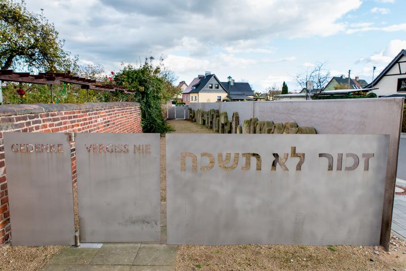 Denkmal am jüdischen Friedhof in Wörlitz